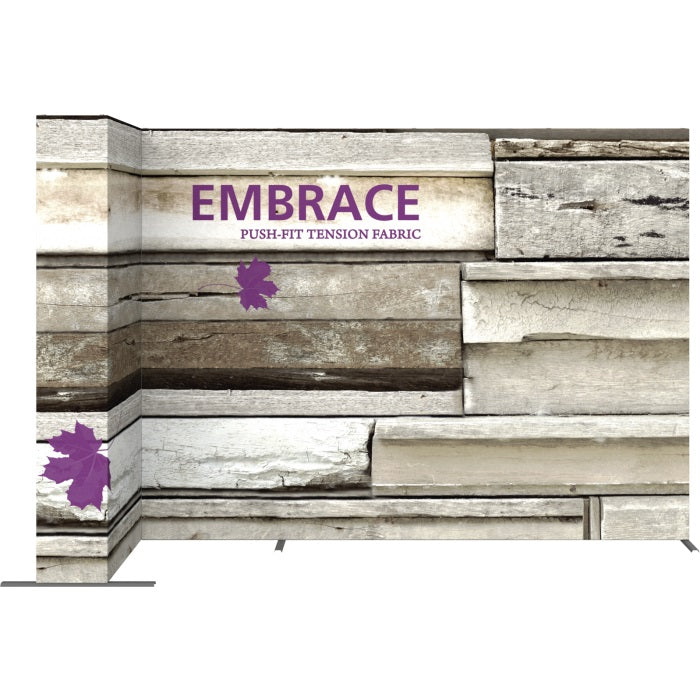 11 Ft. Embrace L-shape Full Height Double Left Sided Front Graphic Trade Show Display With End Caps