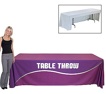 8 Foot Open Back Fully Printed Table Throw