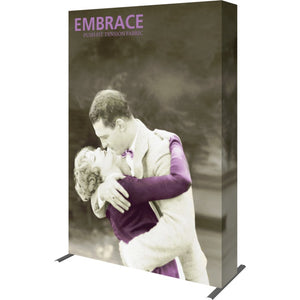 5 Ft. (2 x 3 Quad) Embrace Full Height Trade Show Display With End Caps - Right Side