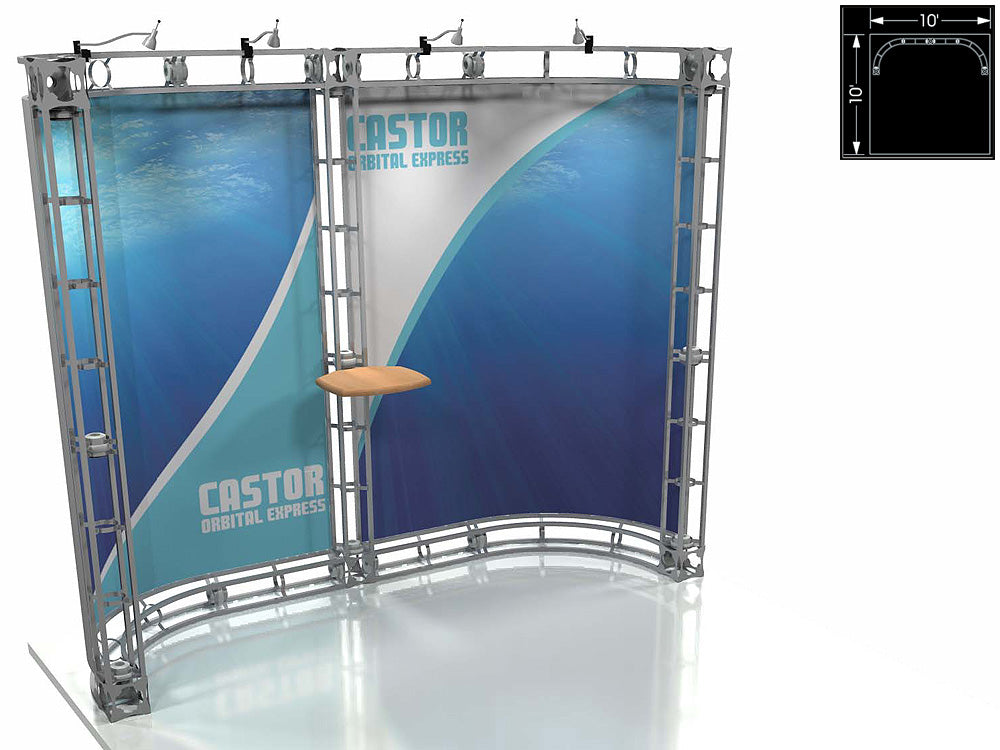 Castor Express 10' x 10' Truss Trade Show Display Booth