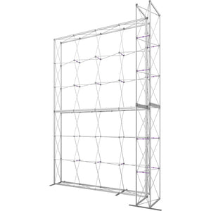 12 x 15 Ft. (4 x 3 Quad) Embrace Stackable Double Sided Trade Show Display With End Caps - Frame Left View