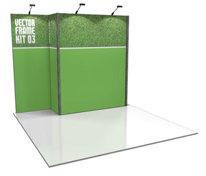Vector Frame 3 10' x 10' Trade Show Display Kit