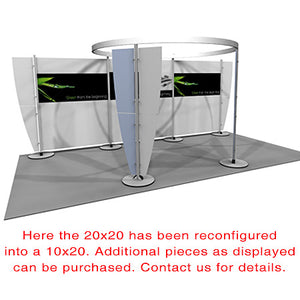 Exhibitline 2020.02 Trade Show Display - Alternate Product Configuration - 10 x 20