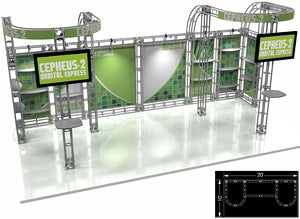 Cepheus 2 Express 10' x 20' Truss Trade Show Display Booth