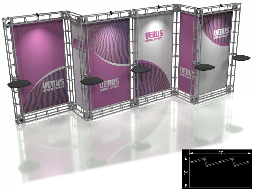 Venus Express 10' x 20' Truss Trade Show Display Booth