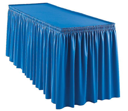 Table Skirts with Various Pleating Styles - No Graphics