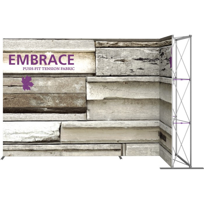 11 Ft. Embrace L-shape Full Height Double Right Sided Front Graphic Trade Show Display Without End Caps