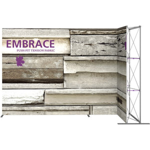 11 Ft. Embrace L-shape Full Height Single Right Sided Front Graphic Trade Show Display Without End Caps
