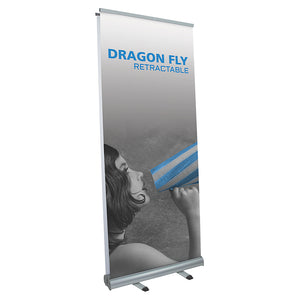 Dragon Fly Banner Stand - Up Close