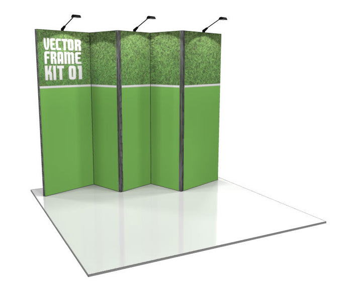 Vector Frame 1 10' x 10' Trade Show Display Kit