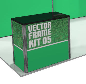 Vector Frame Trade Show Display Counter