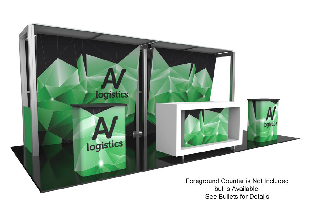 Hybrid Pro Modular Trade Show Exhibit Kit 13 - Up Close