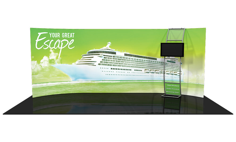 Formulate WH3 10' x 20' Horizontal Curved Trade Show Display