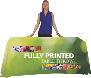 4 Foot Standard Fully Printed Table Throw with Model
