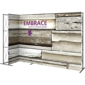 11 Ft. Embrace L-shape Full Height Double Left Sided Front Graphic Trade Show Display Without End Caps - Left Side View 2