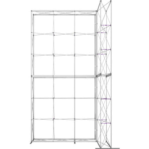 10 x 15 Ft. (3 x 3 Quad) Embrace Stackable Single Sided Trade Show Display With End Caps - Frame Only
