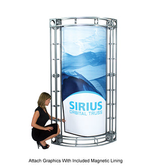 Sirius Orbital Express 10' x 10' Truss Trade Show Display Booth - Product Assembly 6