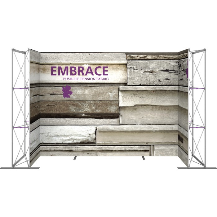 14 Ft. Embrace U-shape Full Height Single Sided Front Graphic Trade Show Display Without End Caps - Front View