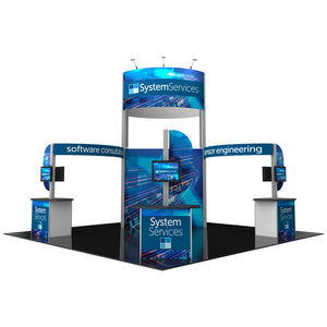 20' x 20' Hybrid Pro Modular Island Exhibit Kit 17 - Product View 1