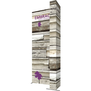 7 x 15 Ft. (2 x 3 Quad) Embrace Stackable Single Sided Trade Show Display With End Caps - Right View