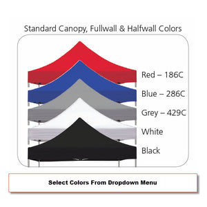 Zoom Outdoor Tent - Color Swatch Options