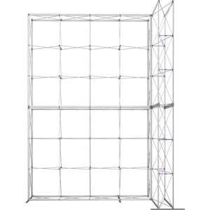 12 x 15 Ft. (4 x 3 Quad) Embrace Stackable Double Sided Trade Show Display With End Caps - Frame Only