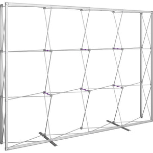 10 Ft. (4 x 3 Quad) Embrace Full Height Trade Show Polyester fabric Display With End Caps - Frame Only