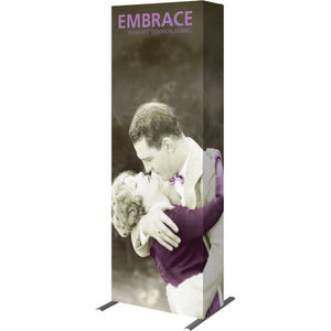 2 1-2 Ft. (1 x 3 Quad) Embrace Full Height Trade Show Display With End Caps - Right Side