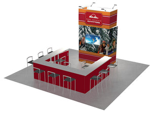 H-Line 20ft x 20ft Modular Exhibit Model 7 - Front View