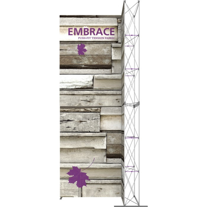 7 x 15 Ft. (2 x 3 Quad) Embrace Stackable Single Sided Trade Show Display Without End Caps