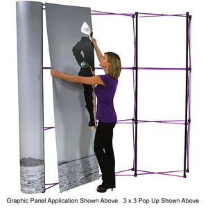 8 Ft. 3 X 3 Coyote Graphic Pop Up Display With Full Graphics - Curved - Product Assembly 4