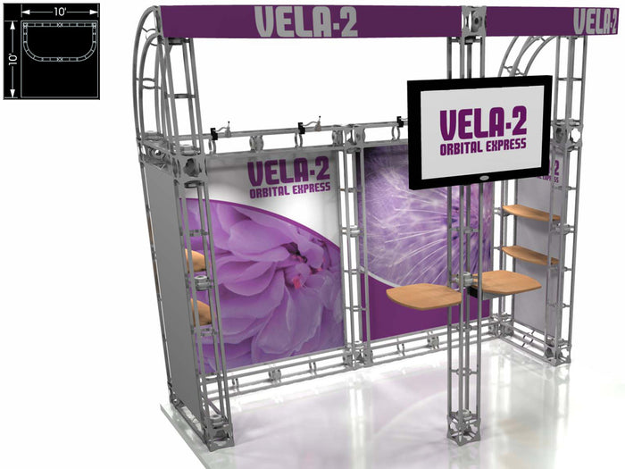 Vela 2 Orbital Express 10' x 10' Truss Trade Show Display Booth