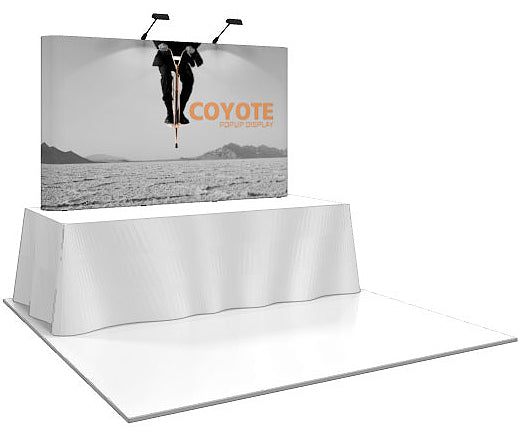 8 Ft. (3 x 2 Quad) Coyote Table Top Pop Up Display With Full Graphics - Straight - Replacement Graphics