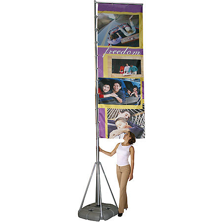 Wind Dancer Telescopic Outdoor Banner Stand with Graphic Print