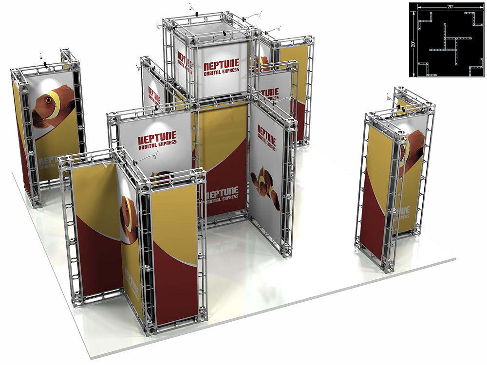 Neptune Express 20' x 20' Truss Trade Show Display Booth