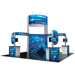 20' x 20' Hybrid Pro Modular Island Exhibit Kit 17 - Product View 2