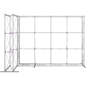 11 Ft. Embrace L-shape Full Height Double Left Sided Front Graphic Trade Show Display Without End Caps - Frame Front View