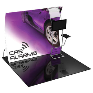 Formulate VC9 10' x 10' Vertically Curved Trade Show Display - Product View