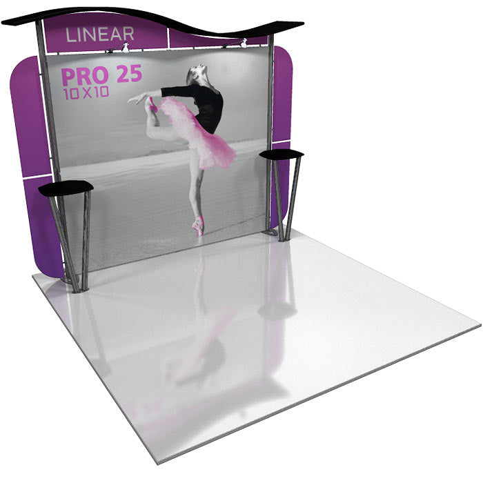Linear Pro 10' x 10' Backwall Display Kit 25