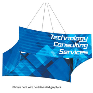 Concave Square Hanging Sign Display with Graphic - Product View 1