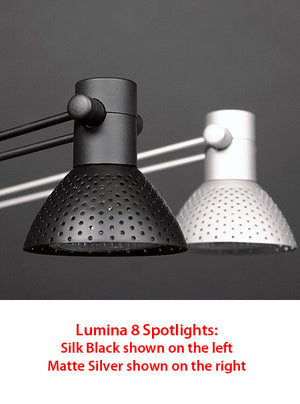 Formulate VC4 10' x 10' Vertically Curved Trade Show Display- Lumina 8 Spotlight Accessory