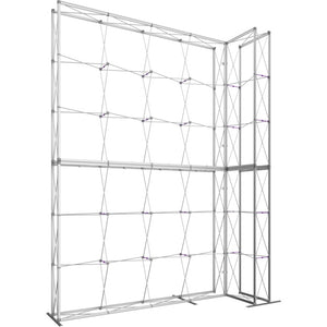 12 x 15 Ft. (4 x 3 Quad) Embrace Stackable Double Sided Trade Show Display With End Caps - Frame Right View
