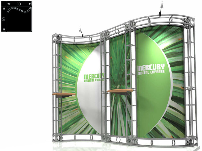 Mercury Orbital Express 10' x 10' Truss Trade Show Display Booth