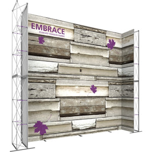 17 x 15 Ft. (3 x 3 Quad) Embrace Stackable Double Sided Trade Show Display Without End Caps - Left View