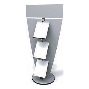 Exhibitline LIT.3.H Three Shelf Literature Stand