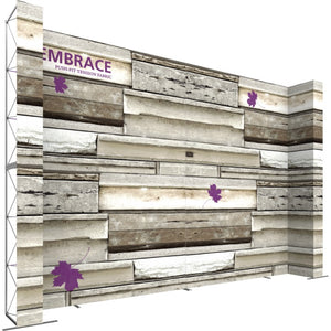 21 x 15 Ft. (4 x 3 Quad) Embrace Stackable Double Sided Trade Show Display Without End Caps - Left View