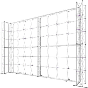 21 x 15 Ft. (4 x 3 Quad) Embrace Stackable Single Sided Trade Show Display With End Caps - Frame Right View