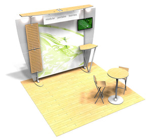 10.10 Exhibitline 10' x 10' Trade Show Display Package - Product View 1