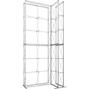 7 x 15 Ft. (2 x 3 Quad) Embrace Stackable Double Sided Trade Show Display Without End Caps - Frame Left View