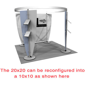 Exhibitline 2020.02 Trade Show Display - Alternate Product Configuration - 10 x 10